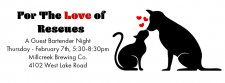 For the Love of Rescues Guest Bartending Event